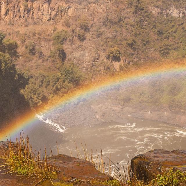 """Victoria Falls - Rainbow"" stock image"