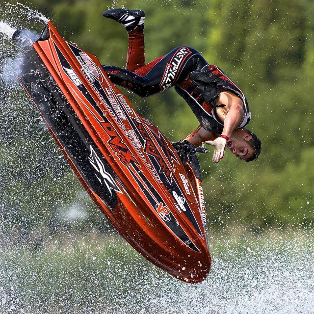 """""""Anthony Burgess, World Jetski Champion"""" stock image"""