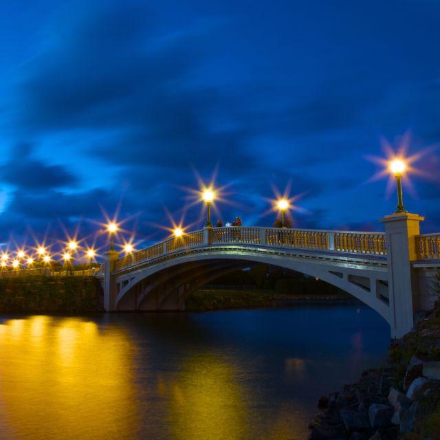"""Victoria Bridge, Southport, Liverpool"" stock image"