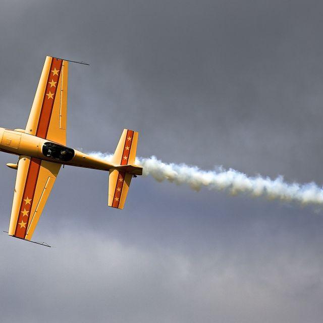 """""""stunt plane"""" stock image"""