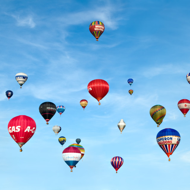 """Bristol balloon fiesta, UK"" stock image"