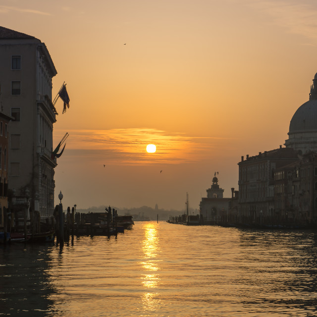 """Venice Sunrise"" stock image"
