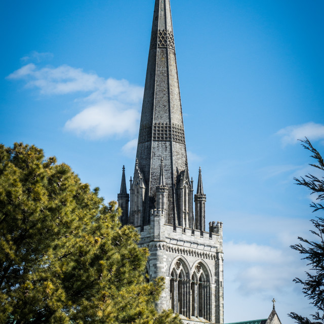 """Chichester cathedral"" stock image"
