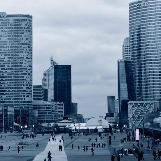 """""""The La Defense business district of Paris"""" stock image"""