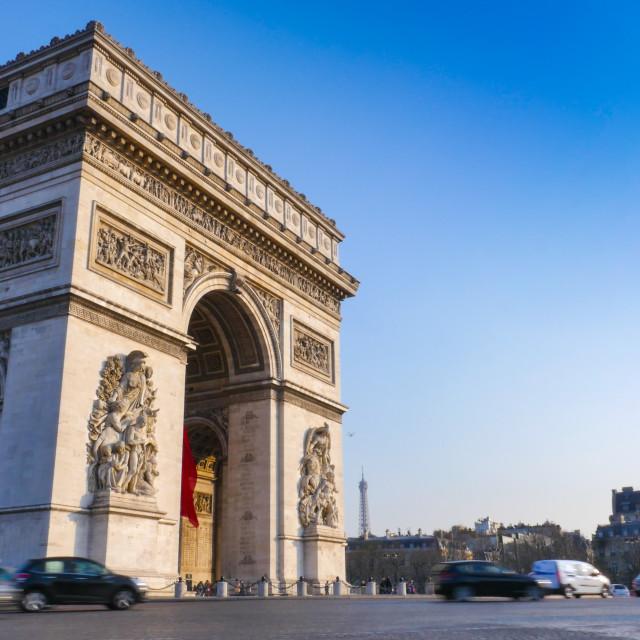 """""""Arc de Triomphe in Paris"""" stock image"""