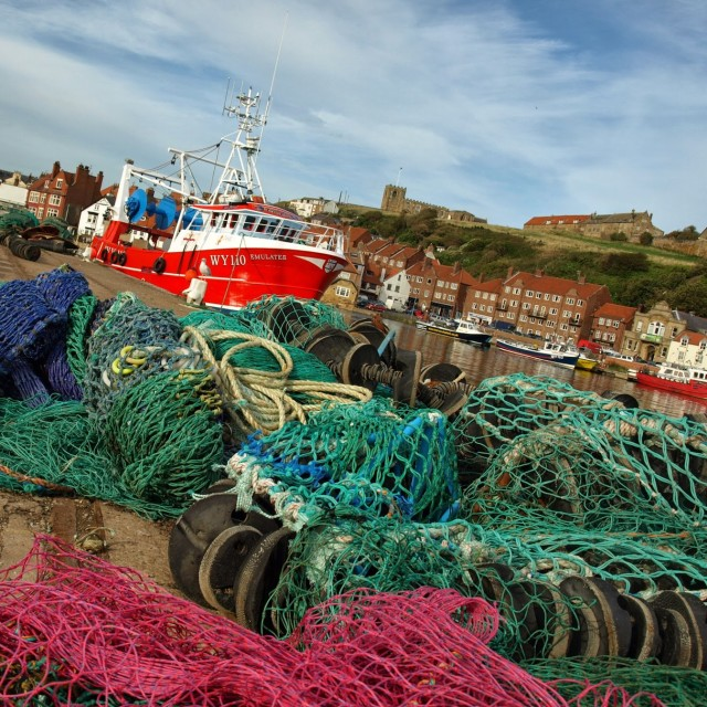 """Whitby Harbour"" stock image"