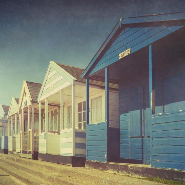 """Beach Huts three"" stock image"