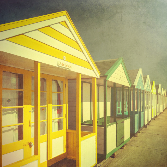 """Beach Huts two"" stock image"