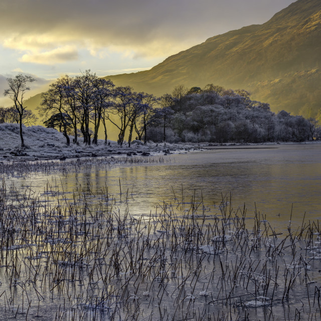 """Frosted loch Awe"" stock image"