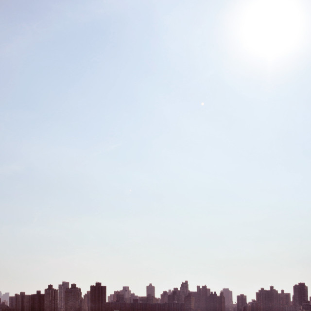 """NYC New York City Skyline in the summer"" stock image"