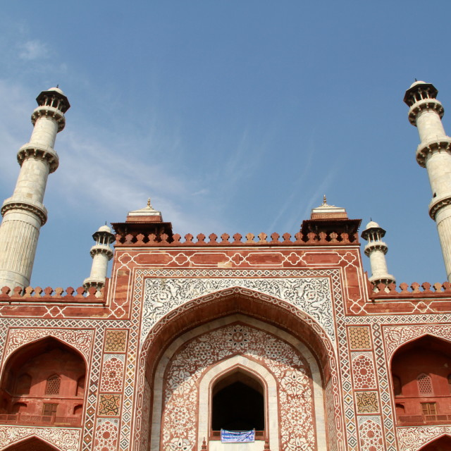 """Tomb of Akbar the Great"" stock image"