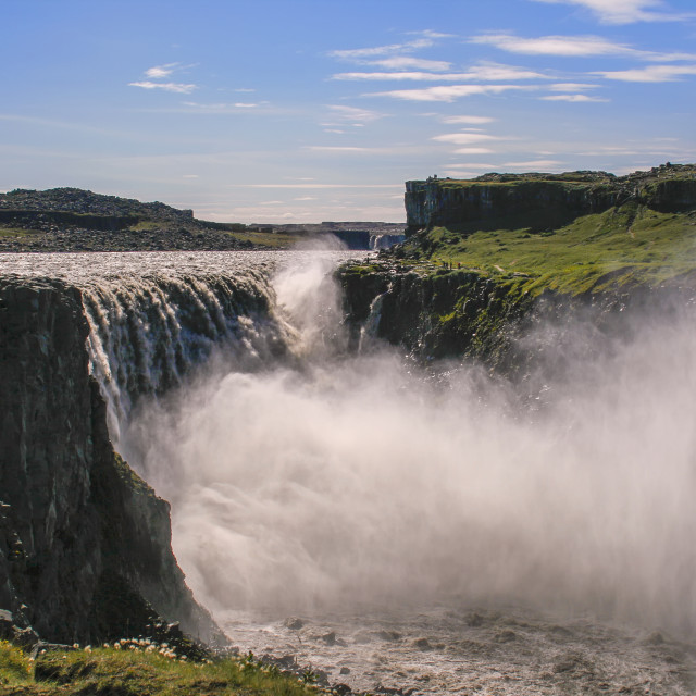 """Dettifoss waterfall, Iceland"" stock image"
