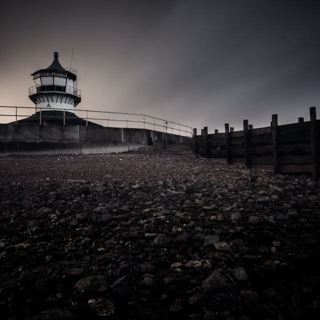 """Moody Weather at the Lighthouse Museum"" stock image"