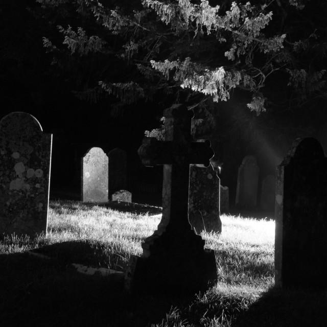 """Haunted Churchyard"" stock image"