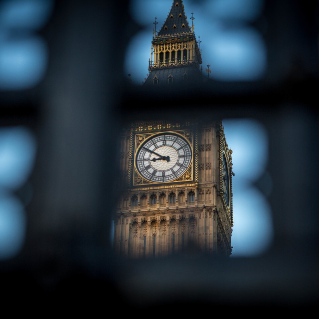 """peeking at big ben"" stock image"