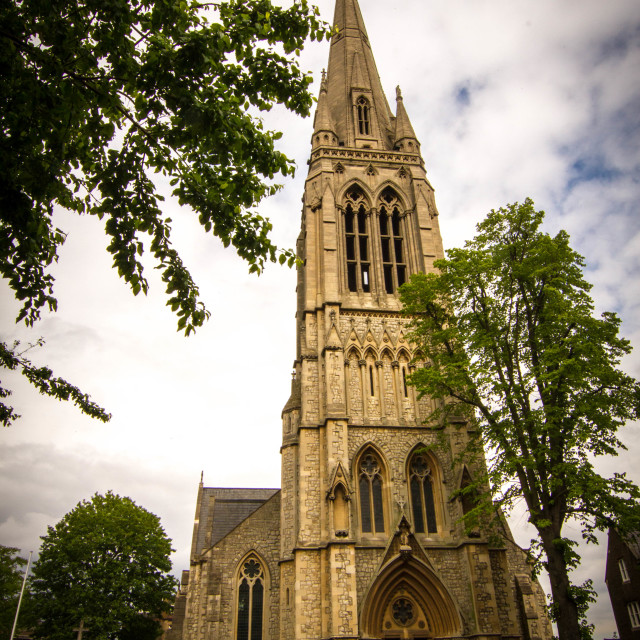"""stoke newington church"" stock image"