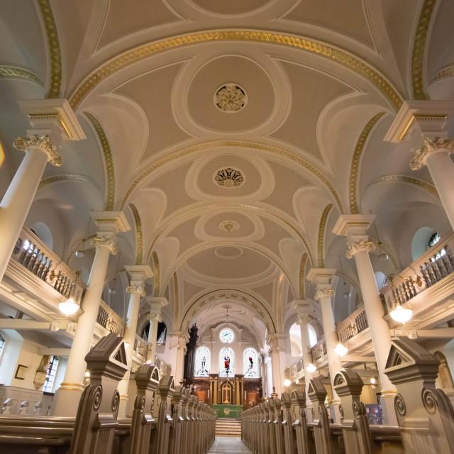 """church interior"" stock image"