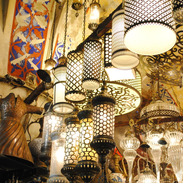 """Grand Bazaar Lights"" stock image"