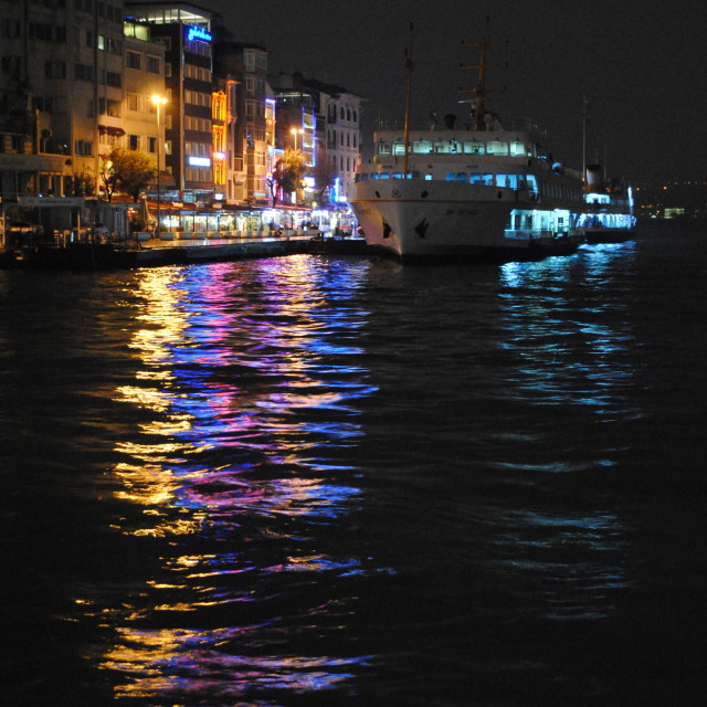"""Bosphorus At Night"" stock image"