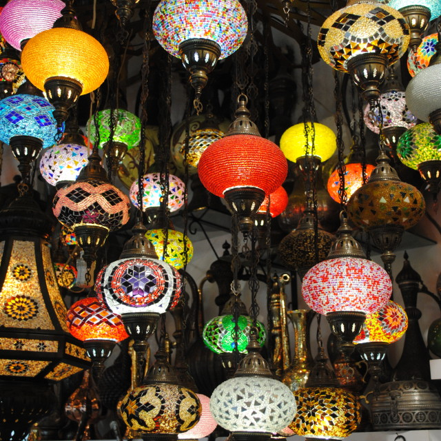 """Colourful Lamps"" stock image"