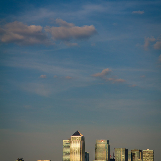 """canary wharf in the distance"" stock image"