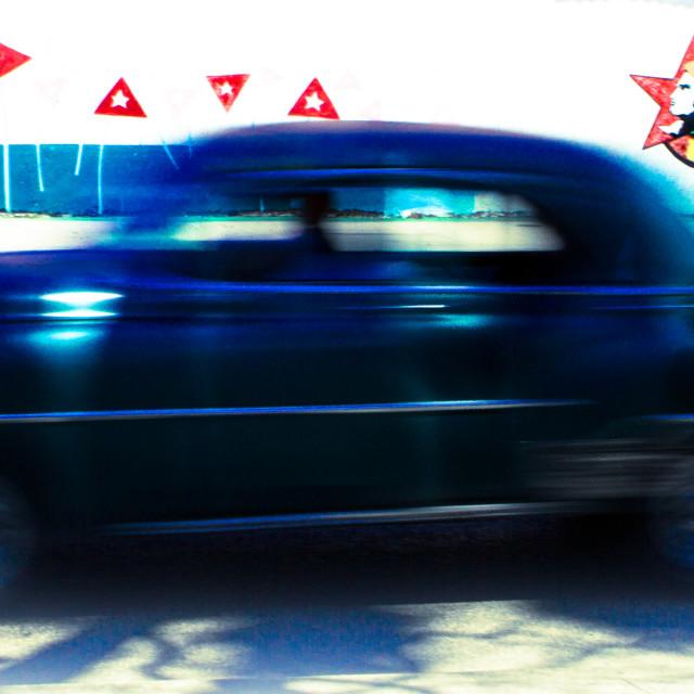 """speeding through havana"" stock image"
