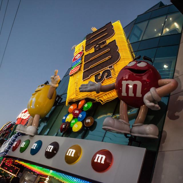 """M&Ms Building, Vegas"" stock image"