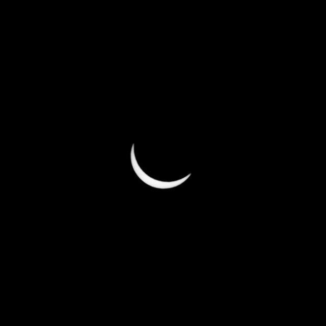 """Crescent Sun"" stock image"