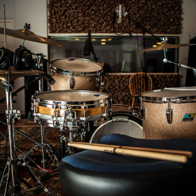 """Studio Drum Kit"" stock image"