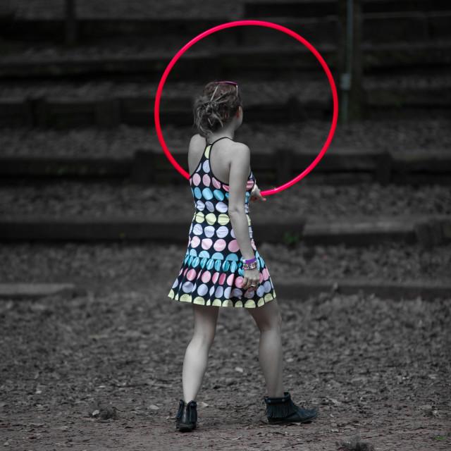 """""""Hoop Girl"""" stock image"""