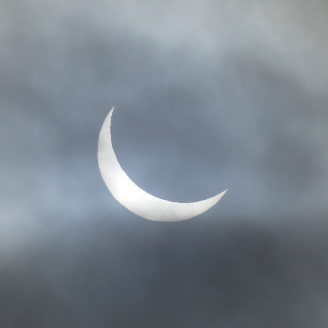 """Partial Solar Eclipse March 2015"" stock image"