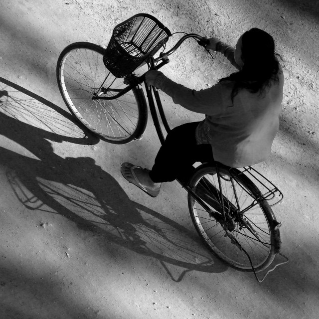 """Bicycle Shadow"" stock image"
