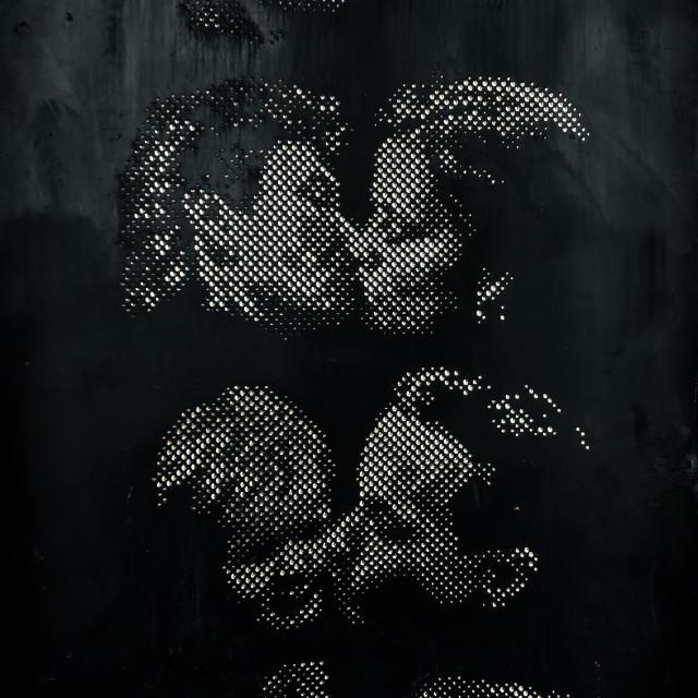 """""""Kiss wall"""" stock image"""