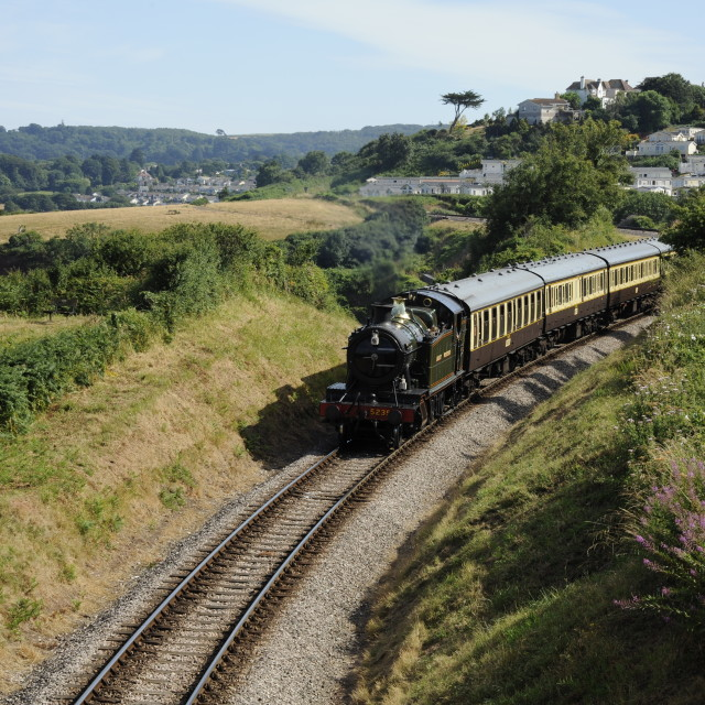 """Goliath steaming into Paignton"" stock image"
