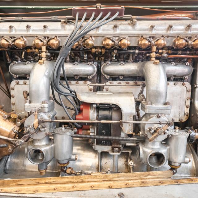 """vintage vehicle engine"" stock image"