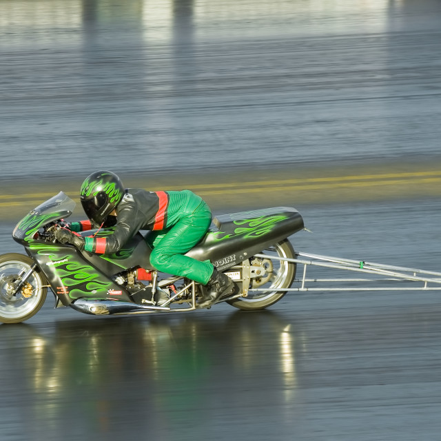 """""""dragster motorcycle"""" stock image"""