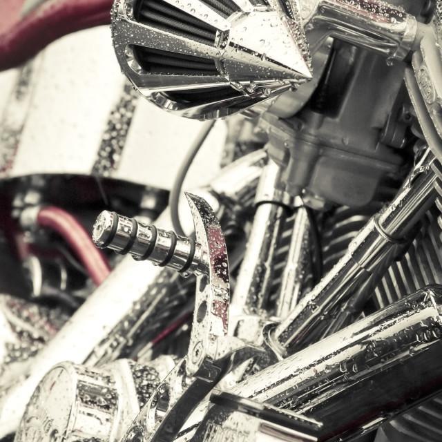 """motorcycle chrome"" stock image"