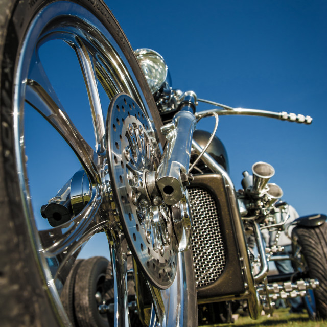 """motorcycle trike"" stock image"