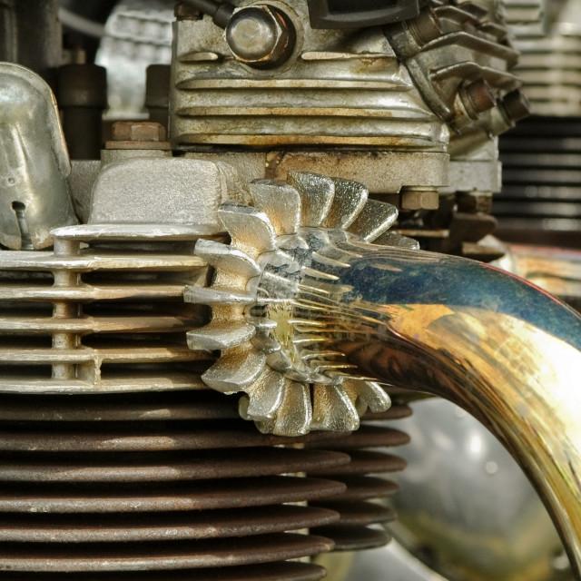 """vintage motorcycle engine"" stock image"