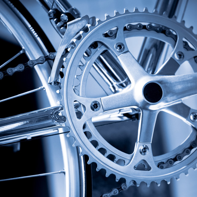 """bicycle gears"" stock image"