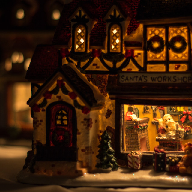 """Santa's Workshop"" stock image"