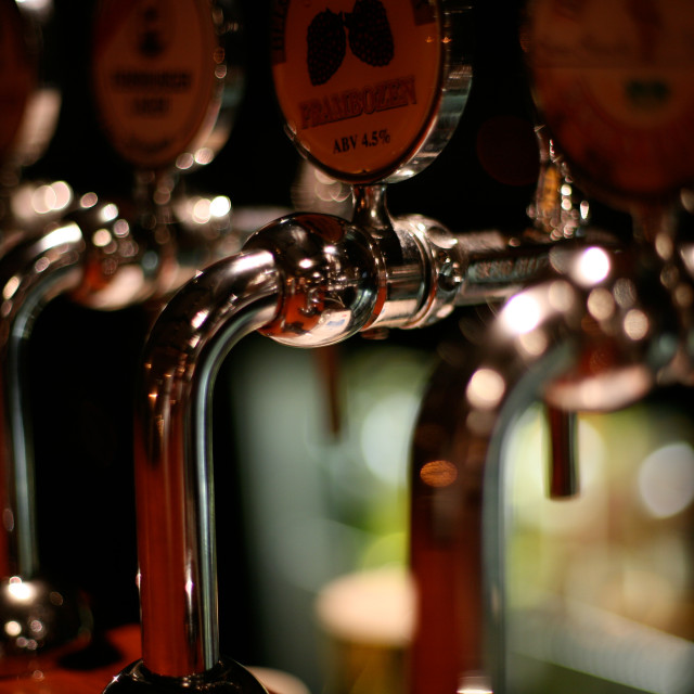 """Beer Taps"" stock image"