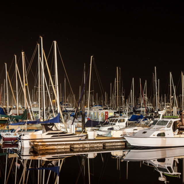 """Sailboats At Rest"" stock image"