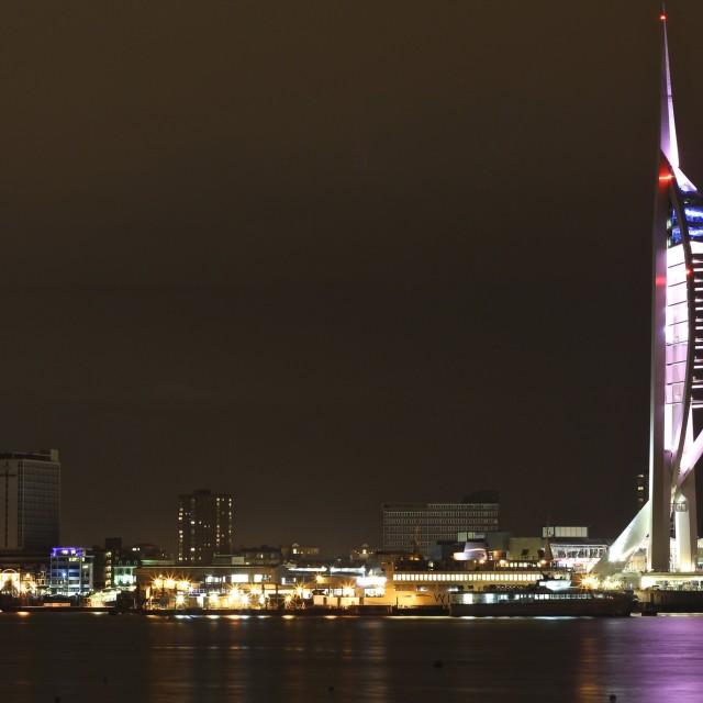 """Portsmouth Spinnaker Tower"" stock image"