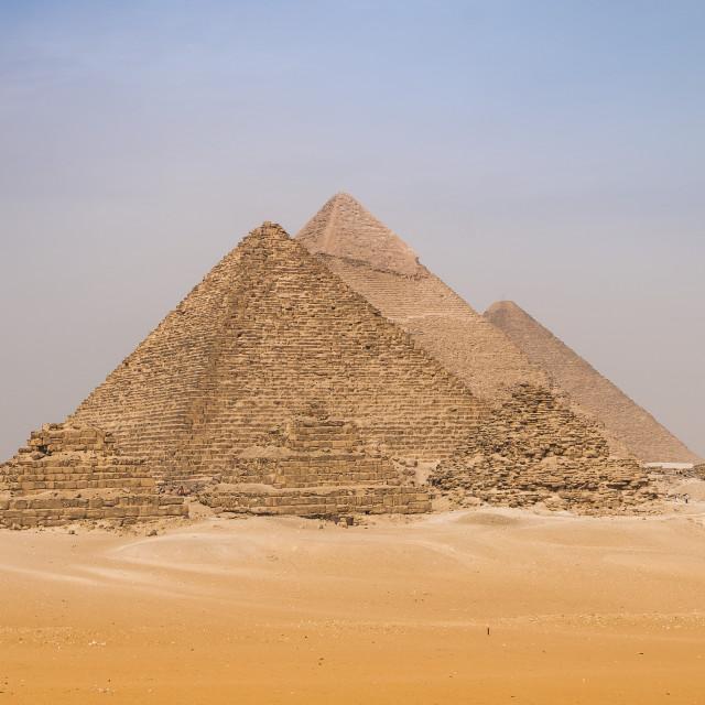 """Pyramids of Giza"" stock image"