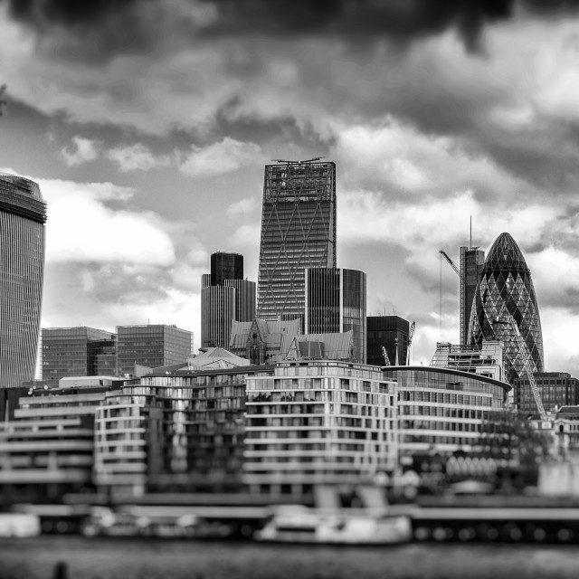 """London City Skyline"" stock image"