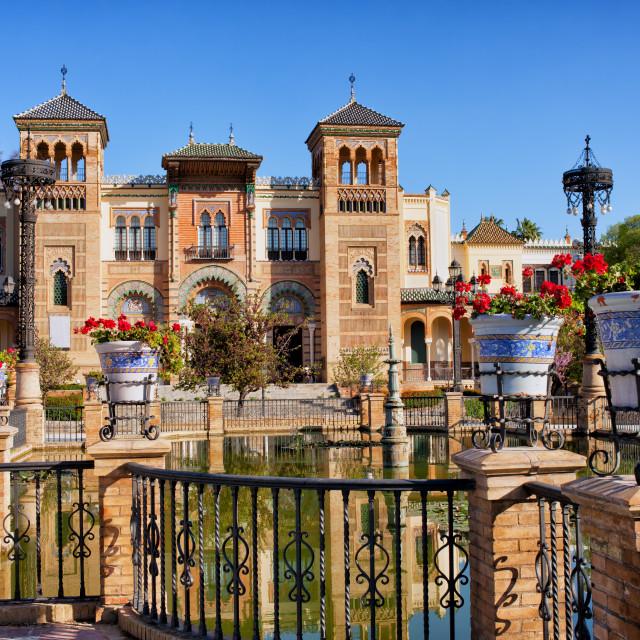 """Mudejar Pavilion in Seville"" stock image"