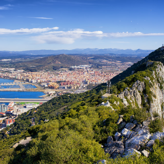 """Rock of Gibraltar"" stock image"