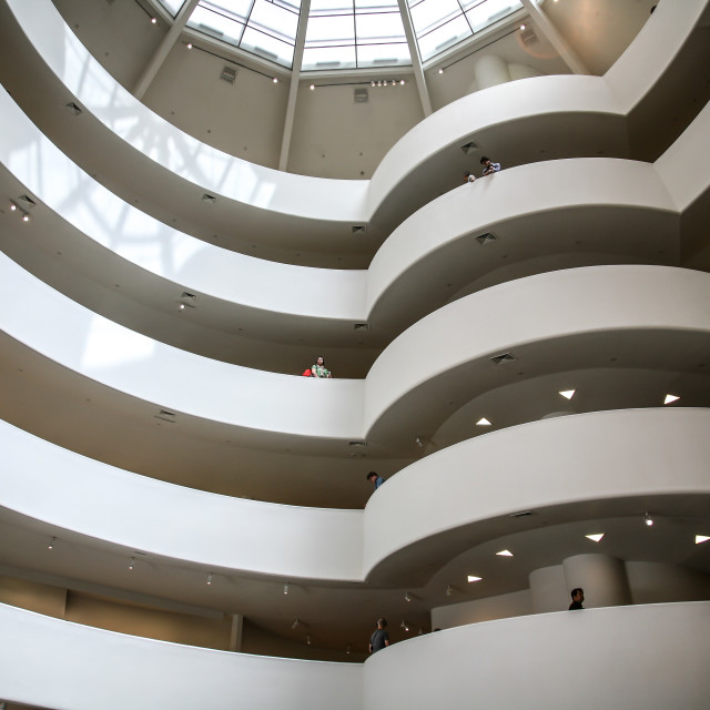 """Inside The Guggenheim"" stock image"