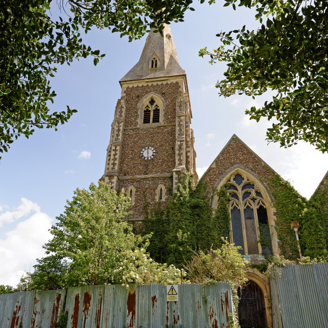 """Derelict Church in the UK"" stock image"